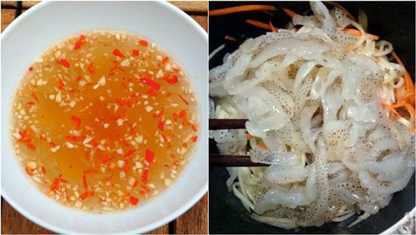 Pha mắm trộn gỏi sứa